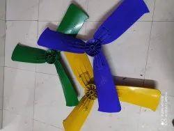 Black Plastic Cooler Fan Blade, 1200 Cfm, Number Of Blades: 3