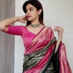 Festive Wear Silk Saree, 6 m (With Blouse Piece)