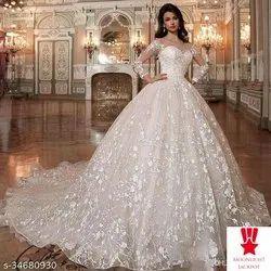 White NET Designer Ball Gown