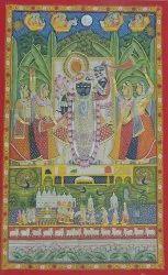 Multicolor Pichwai Painting Of Shreenathji