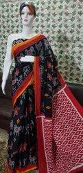 Printed Bagru Print Cotton Mulmul Saree