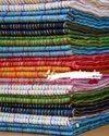 Silk Linen Temple Border Hand Embroidered Silk Saree