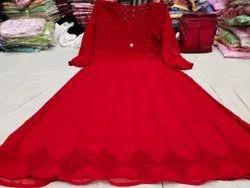 Beautiful Angharkha Style Georgette Anarkali for Party Wear