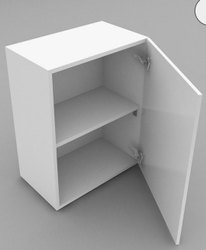 Matt/High Gloss Kitchen Wall Cabinets Single Door, Size/Dimension: mm