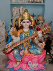 White  marble saraswati mata 3 feet