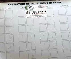 The Chart For Rating Of Inclusions In Steel