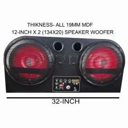 Black 12 INCH TRACTOR MUSIC SYSTEM