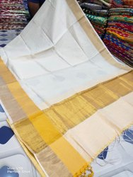 Plain Handloom Silk Cotton Sarees