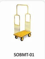 Sunny Overseas Mild Steel SOBMT-01 Maharaja Luggage Trolley, For Hotel