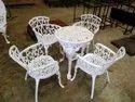 Cast Iron Round Table Set