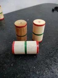Natural Wood Wooden Tabla Gattas, Size: 2.5(h) X 1.25(dia)