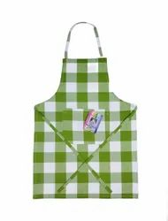 Cotton Checked Kids Cooking Apron With A Pocket, 45x60 Cm (multicolour), For Kitchen