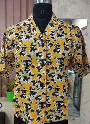 Half Sleeves Cotton Women Printed Shirt, Size: Medium, Casual