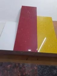 Black Red Brown white Gry Bige Polished Artificial granite, Thickness: 15-20 mm