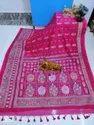Handloom Cotton Silk Kolka Printed Allover Sarees