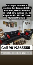 Leather Designer Sofa Set