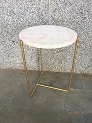marble and iron White Coffee Table, For Home