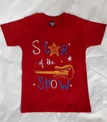 Cotton Casual Wear Kids T Shirt, Size: 1-6