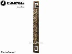 Holdwell Rectangular G-Type Brass Door Handle
