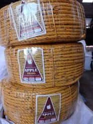 Yellow Twisted Submersible Safety Rope, Diameter: 1-10 mm