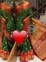 Bandhej Ghadchola Banarsi Silk Saree