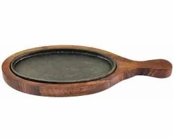 Brown Round Wooden Sizzler Plate, For Restaurant, Size: 10 Inch