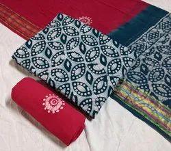 Cotton Casual Wear Original Hand Block Batik Print Suit