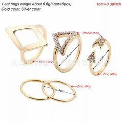 Alloy Golden Finger Ring Set