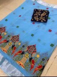 Linen Thread Weaving Sarees