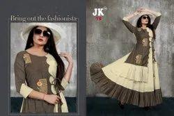 Party Wear Anarkali Designer kurti, Wash Care: Dry clean