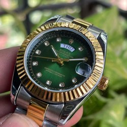 Round Golden Rolex Ladies Watches