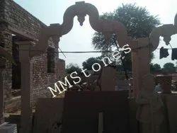 Mandir Entrance Stone Carved Decorative Gate