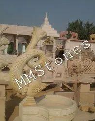Stone Fish Water Fountain