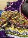 Khadi Cotton Meena Katha Stitch Work Weaving Sarees
