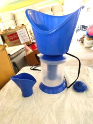 Electric Plastic 3 In 1 Facial Steamer Inhaler & Vaporizer