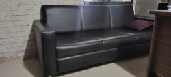 Wooden Black Three Seater Sofa, 5 Inch, Size: 1900