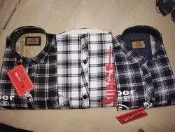 Cotton Printed Junior Check Designer Shirts