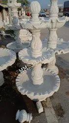 White Marble Three Tier Fountain