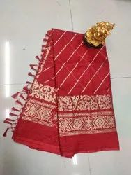 Khatushyam creation Party Wear New cotton traditional sarees, 6.3 m (with blouse piece)
