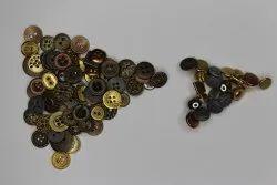 Golden-brown-silver Metal Garment Buttons