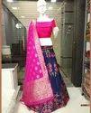Beautiful Banarasi Brocade Silk Fabric Lehngas