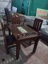 Canteen Wooden Table And Bench, Shape: Rectangular