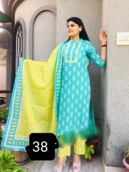 Printed Pure Cotton Suits & Crafted Dupattas