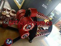 Pu Coated Captain America Design Dumbells