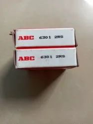 Chrome Steel Single Row ABC Bearing 6301 2RS Kit Ball Bearing, For Automotive Industry, Dimension: 12mmX37mmX12mm