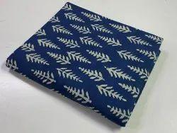 Indigo Block Printed Pure Cotton Fabric