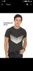 Half Sleeve Cotton Mens Round Neck T Shirt, Size: S M L XL XXL