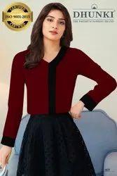 Full Sleeves Ajanta Knitted Formal Ladies Shirts