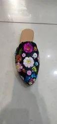 Embroidery Mule ladies sandel
