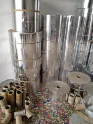 Round Silver paper roll, 140 gsm, Size: Costmized